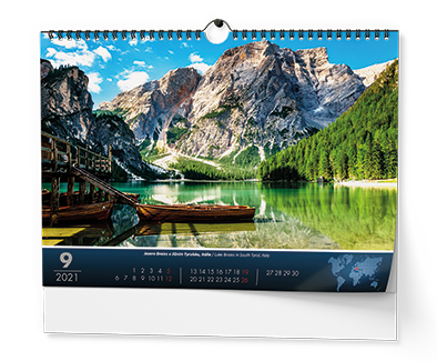 Nástěnný kalendář A3 - Světové národní parky