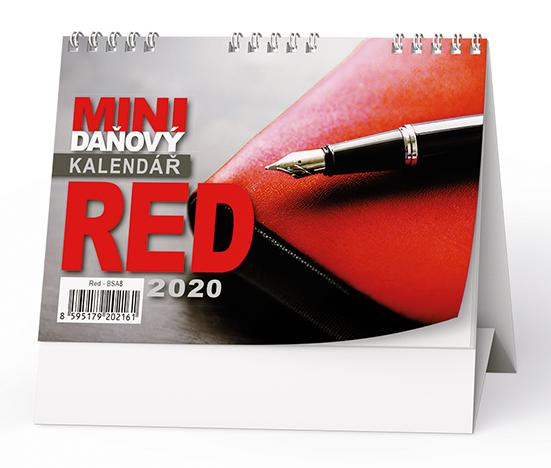 Stolní kalendář - Red - mini daňový