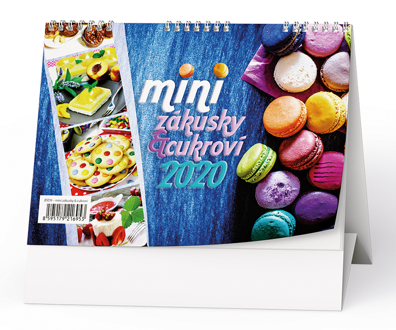 Stolní kalendář - Mini zákusky a cukroví