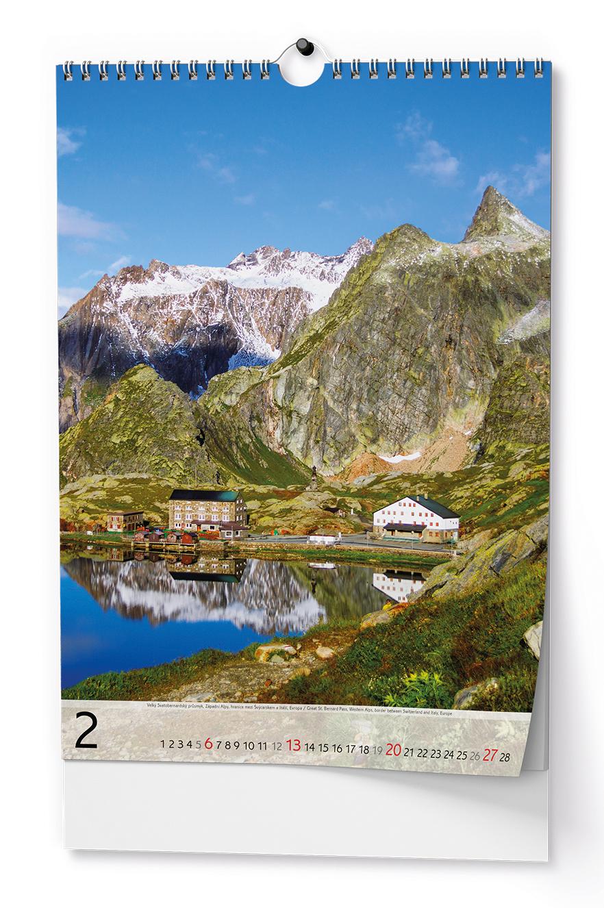 Nástěnný kalendář A3 - Hory