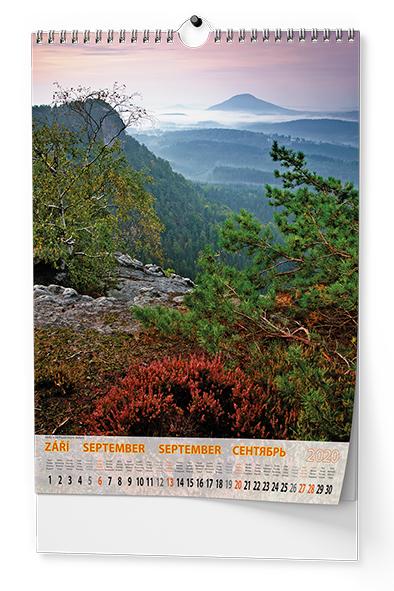 Nástěnný kalendář A3 - České Švýcarsko