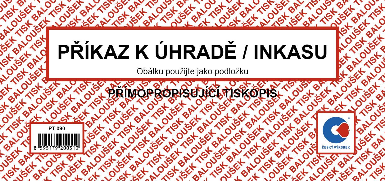 Příkaz k úhradě /inkasu/  1/3 A4