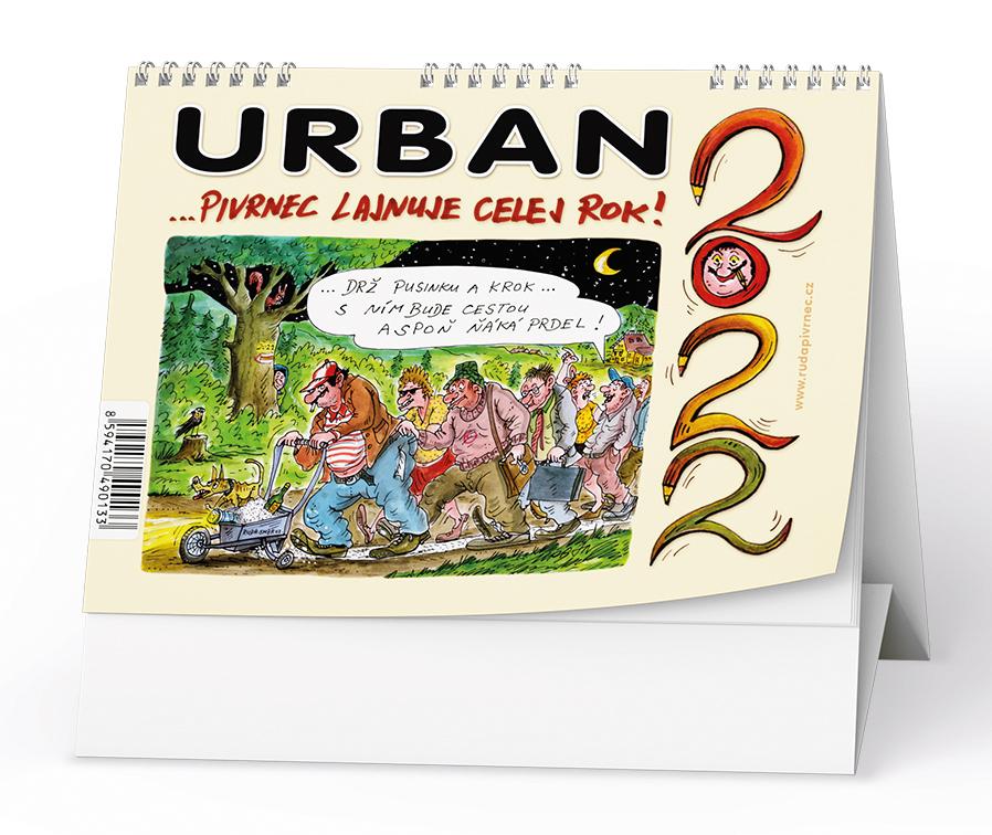 Stolní kalendář - Urban 2022 - ...Pivrnec lajnuje celej rok!