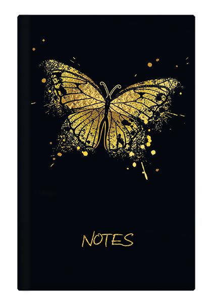 Notes linkovaný - A5 - lamino - Motýl