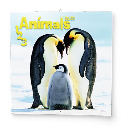 Nástěnný kalendář - Poznámkový - 1-2-3 Animals, BALOUŠEK, BNL4