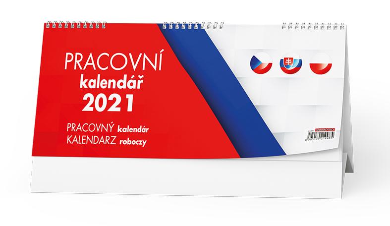 Stolní kalendář - Pracovní kalendář  (CZ - SK - PL), BALOUŠEK, BSM7