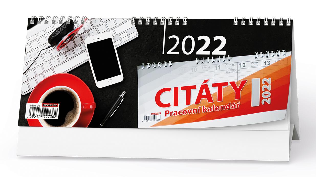 Stolní kalendář - Pracovní kalendář CITÁTY I