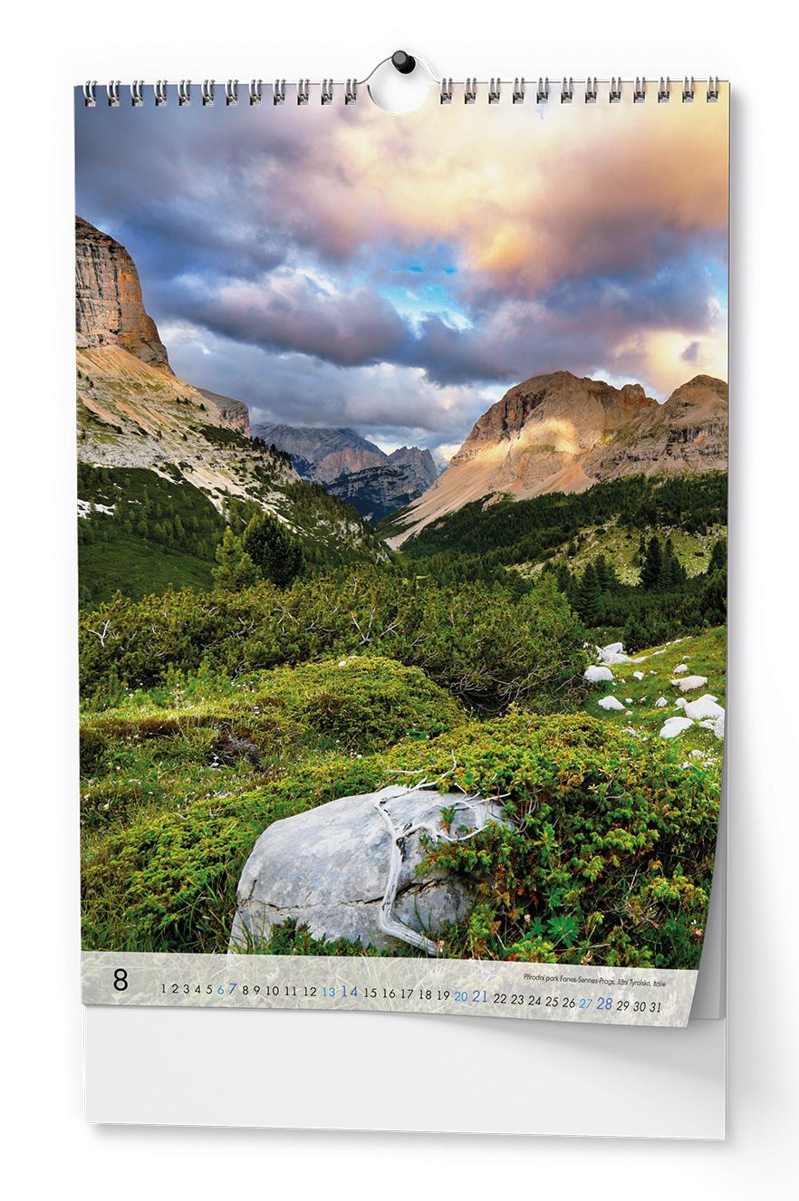 Nástěnný kalendář A3 - Alpy