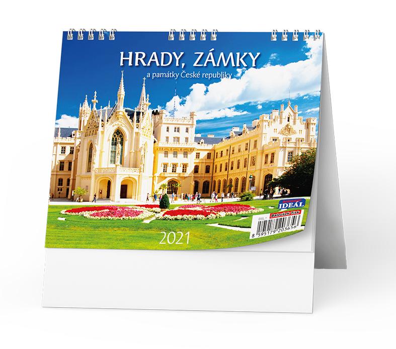 Stolní kalendář - IDEÁL - Hrady, zámky a památky ČR
