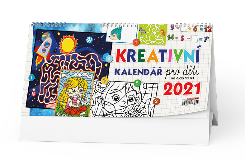 Stolní kalendář - Kreativní kalendář pro děti, BALOUŠEK, BSE6