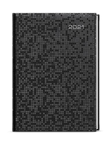 Denní diář - David - saturn - A5 - černá, BALOUŠEK, BDD16-2