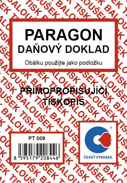Paragon - daňový doklad A7