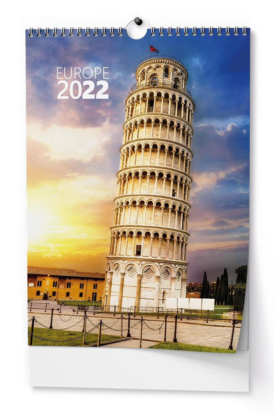 Nástěnný kalendář A3 - Evropa