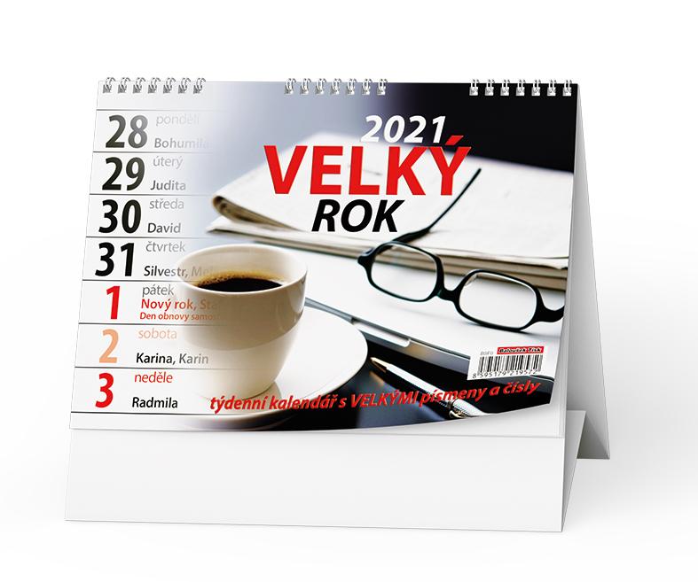 Stolní kalendář - Velký rok, BALOUŠEK, BSF0