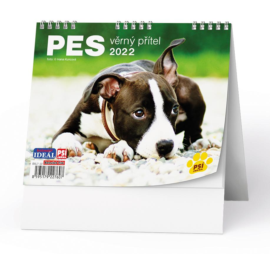 Stolní kalendář - IDEÁL - Pes - věrný přítel /s psími jmény/