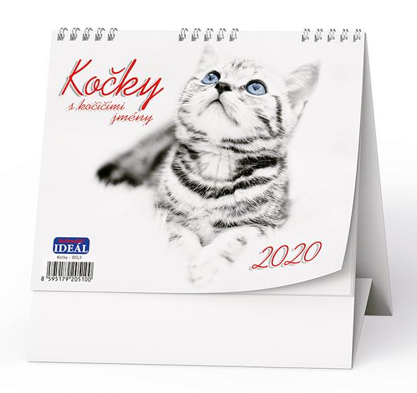 Stolní kalendář - IDEÁL - Kočky
