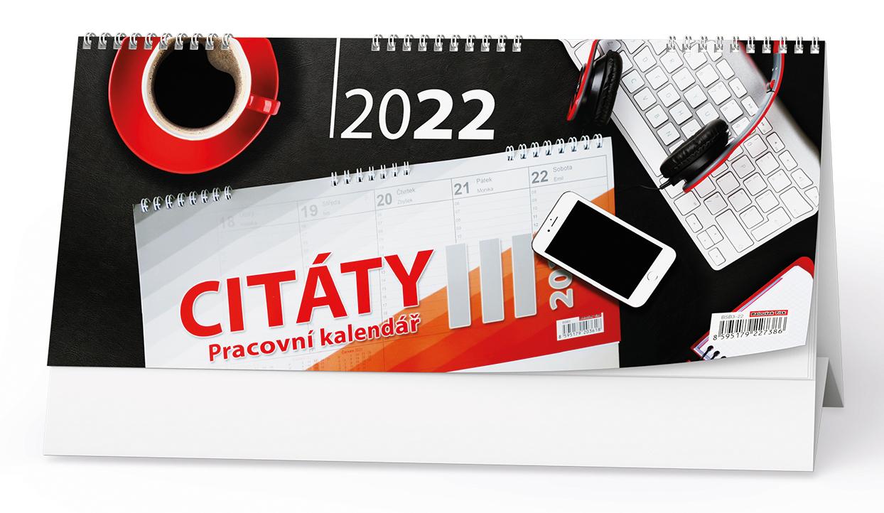 Stolní kalendář - Pracovní kalendář CITÁTY III