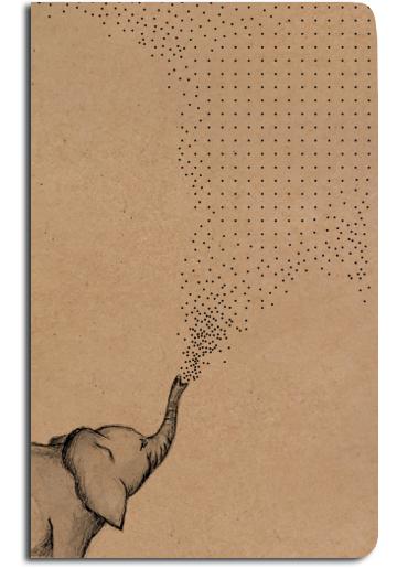 Notes tečkovaný - A5 - kraft - slon