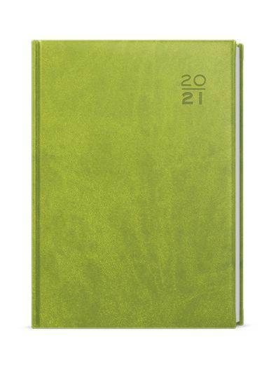 Denní diář - Ctirad - vivella - A5 - zelená, BALOUŠEK, BDC6-5