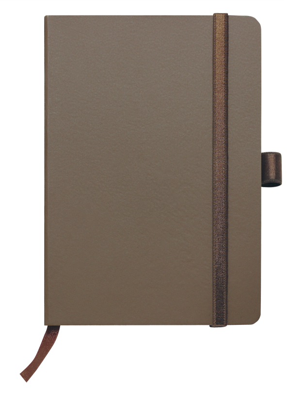 Notes linkovaný s kapsou - A5 - hnědý