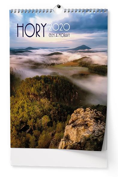 Nástěnný kalendář A3 - Hory Čech a Moravy