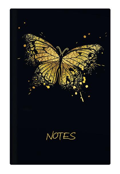 Notes linkovaný - A6 - lamino - Motýl