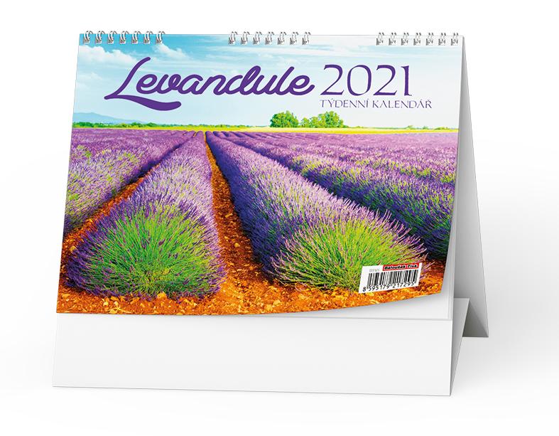 Stolní kalendář - Levandule, BALOUŠEK, BSV5