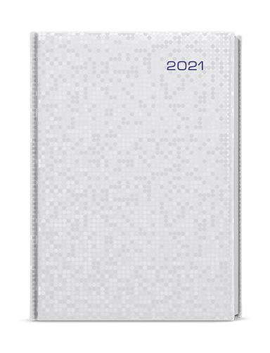 Denní diář - David - saturn - A5 - stříbrná, BALOUŠEK, BDD16-9