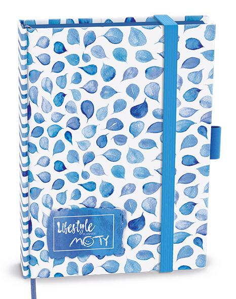 Motivační diář MOTY - B6 - lamino - Modrý