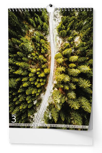 Nástěnný kalendář A3 - Stromy
