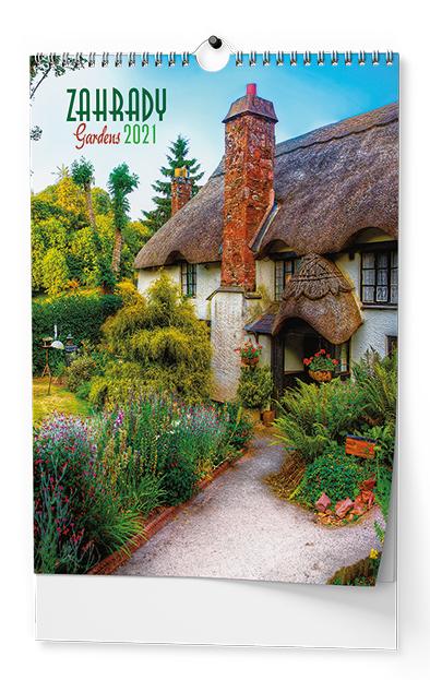 Nástěnný kalendář A3 - Zahrady, BALOUŠEK, BNG8
