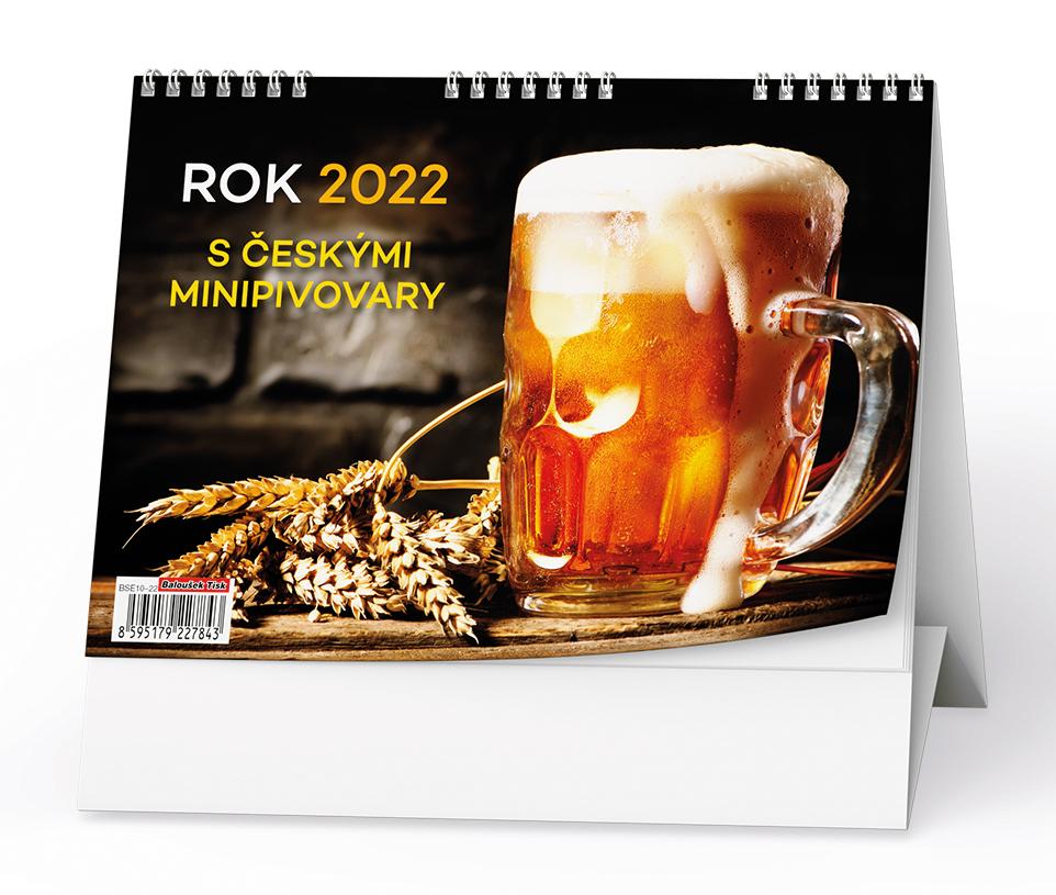 Stolní kalendář - Rok 2022 s českými minipivovary