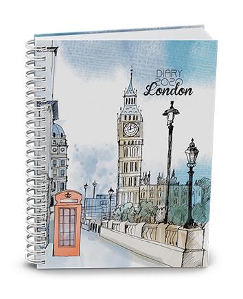 Týdenní volnočasový diář - Egon - twin wire - London